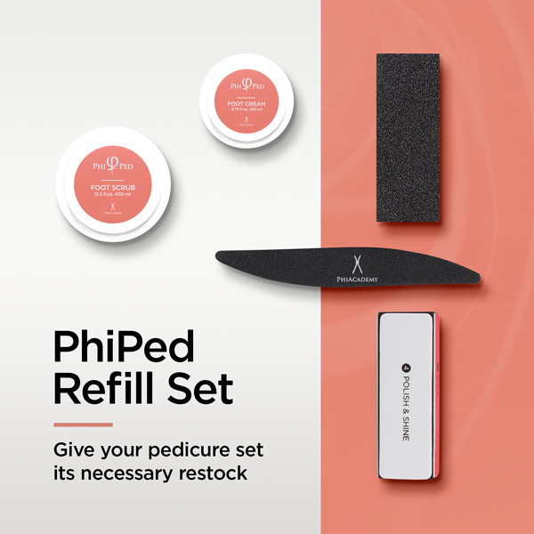 PhiPed Refill Set - Give your pedicure set its necessary restock
