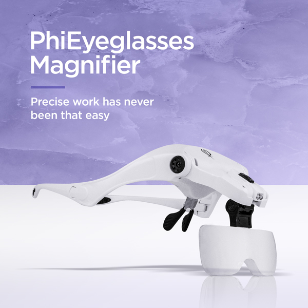 PhiEyeglasses Magnifier - Precise work has never been that easy