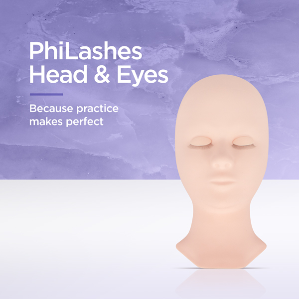 PhiLashes Head & Eyes - Because practice makes perfect
