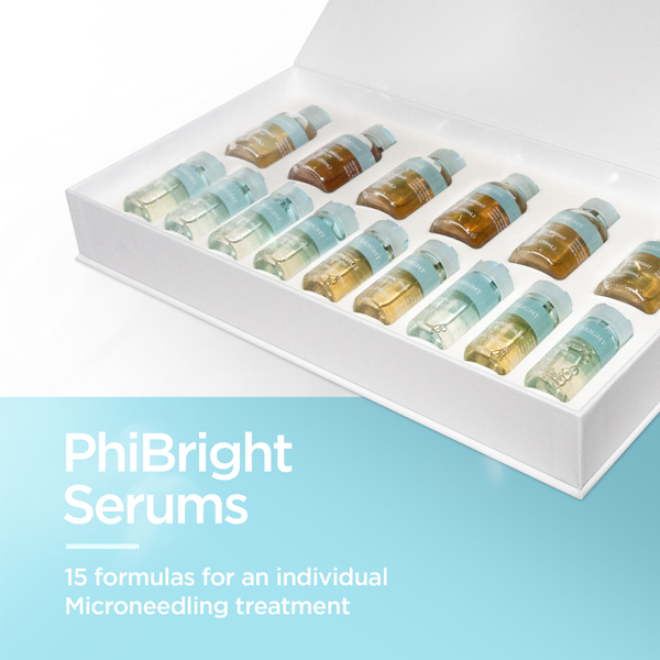 PhiBright Serums - 15 formulas for an individual Microneedling treatment