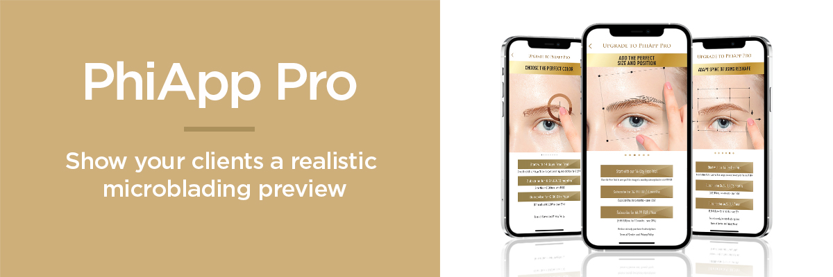 PhiApp Pro - Show your clients a realistic microblading preview