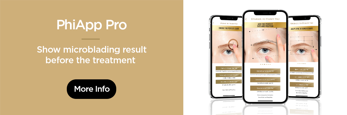 PhiApp Pro - Show microblading result before the treatment - More info