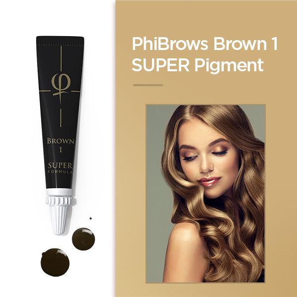 PhiBrows Brown 1 SUPER Pigment