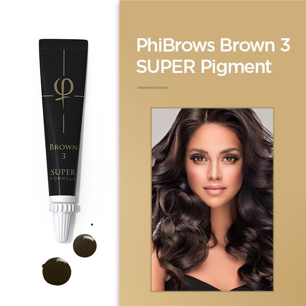 PhiBrows Brown 3 SUPER Pigment