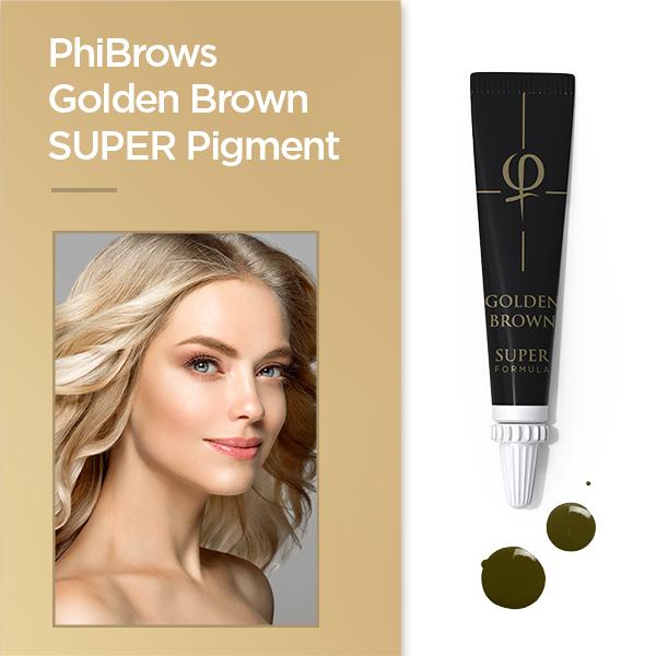 PhiBrows Golden Brown SUPER Pigment