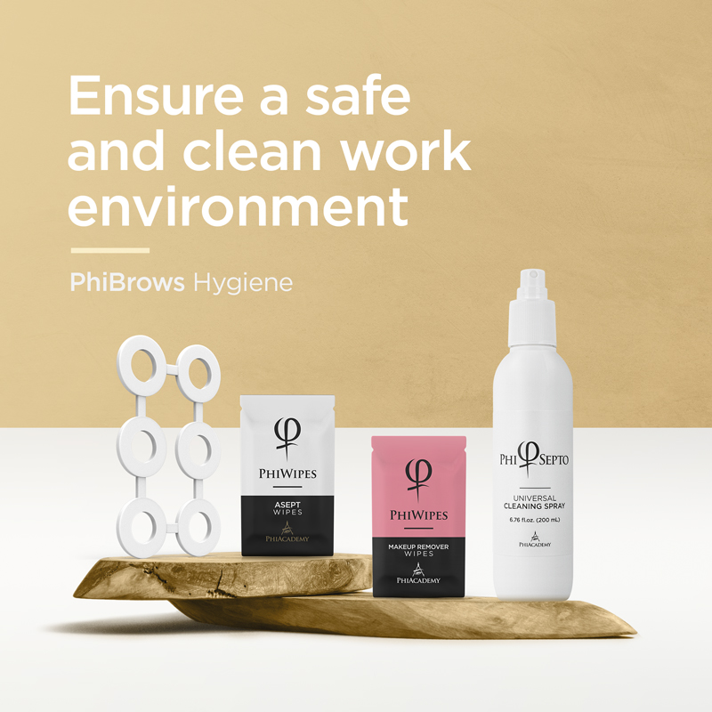 PhiBrows Hygiene - Ensure a safe and clean work environment